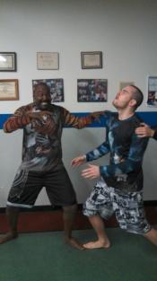 Big Mike Garms & Jimmy Koper (who got his purple belt last weekend)