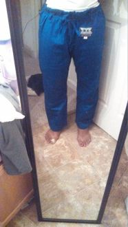 front of pants, pre wash